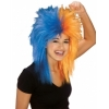 Sports Fanatic Wig Blue/Orange